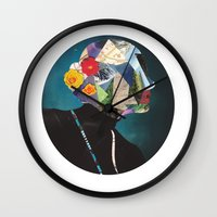 wonderland Wall Clocks featuring Wonderland by Lydia Coventry