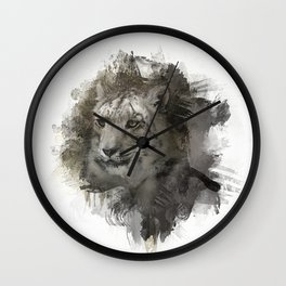 Expressions Snow Leopard 2 Wall Clock