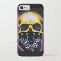 gangster iPhone & iPod Cases featuring Gangster Skull  by GIlbert G909