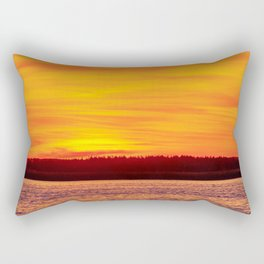 Fiery sunset on the Pike lake Rectangular Pillow