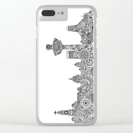 Liverpool City Skyline Clear iPhone Case
