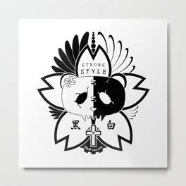 Panda Paw Paw T-Shirt Logo (Black) Metal Print