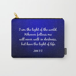 Light of the World - Bible Verse Galaxy Version Carry-All Pouch