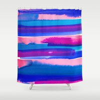 study Shower Curtains featuring Color Study by Jacqueline Maldonado