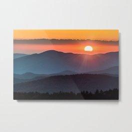Smoky Mountain National Park Sunset - 19/365 Metal Print