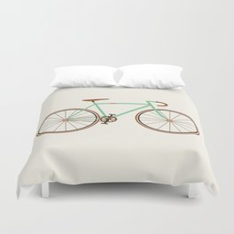 Green Fixie Duvet Cover