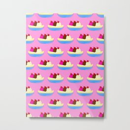 Banana Split Pink Metal Print