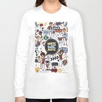 cargline Long Sleeve T-shirts featuring WWA Poster by cargline