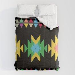 Folk black Comforters