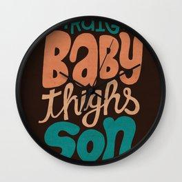 Baby Thighs Wall Clock