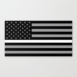 EMS: Black Flag & Thin White Line Canvas Print