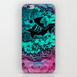 Unicorn Shark Blue iPhone Skin