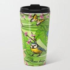 Birdy & Fishy spring blue Metal Travel Mug