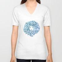 hair V-neck T-shirts featuring Hair by Lauren Draghetti