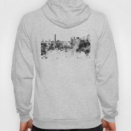 Buenos Aires skyline in black watercolor Hoody