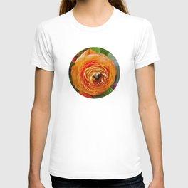 Orange Ranunculus Flowers 2 T-shirt