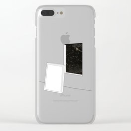 Window into star space night Clear iPhone Case