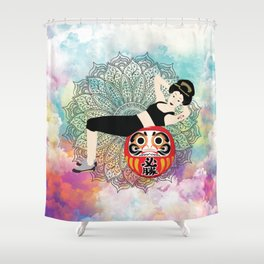 Fitness girl Japanese Traditional girl style Shower Curtain