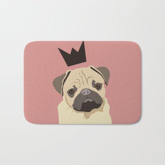 Royal pug Bath Mat