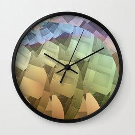 Rainbow Windows Wall Clock