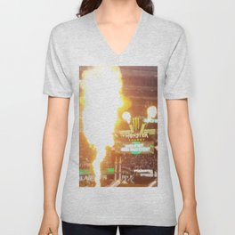 MX Supercross Explosive Fire Unisex V-Neck
