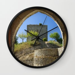 Ourem, castle window, Portugal Wall Clock