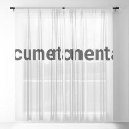 documentary Sheer Curtain