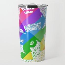 Rainbow MonsterCat Travel Mug