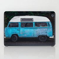 vw bus iPad Cases featuring Vintage VW Bus Rusted  by Limitless Design