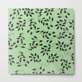Petite Green Floral Metal Print