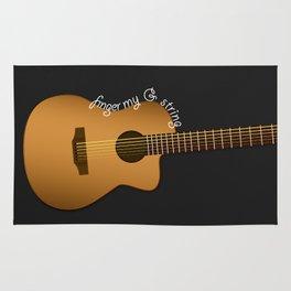 Finger my G string guitar Rug