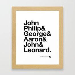 American Composers v2 Framed Art Print