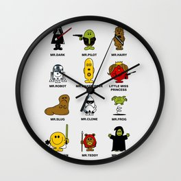 Mr. and Little Miss SW Wall Clock