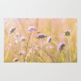Purple Wildflowers Rug