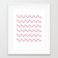 flamingo Framed Art Prints featuring Flamingo by Vickn