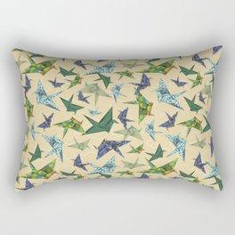 5 Washi Cranes Rectangular Pillow