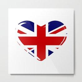 Union Flag Heart Metal Print