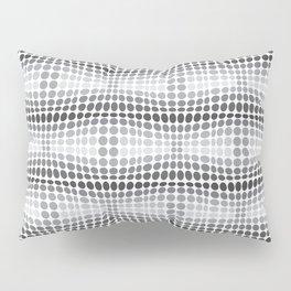 Dottywave - Grey scale wave dots pattern Pillow Sham