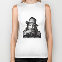 johnny depp Biker Tanks featuring johnny depp by sophia derosa
