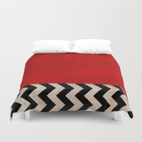 twin peaks Duvet Covers featuring Twin Peaks - Red Room by ShaMiLa