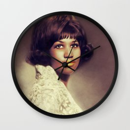 Aretha Franklin, Music Legend Wall Clock