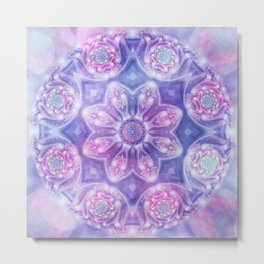 Daydream Mandala in Purple, Blue and Pink Metal Print