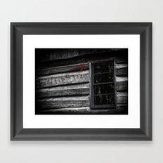 Red Cling on Gray Framed Art Print