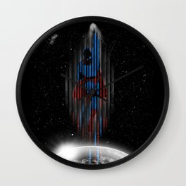 Out in space (Superman) Wall Clock