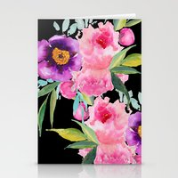 craftberrybush Stationery Cards featuring Floral white  by craftberrybush