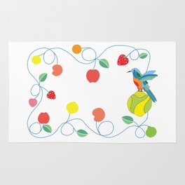 Kitchen hummingbird Rug