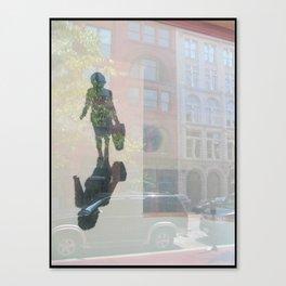Bag Lady Reflection Canvas Print