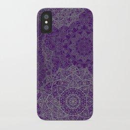 Purple Mandalas iPhone Case