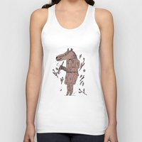 badger Tank Tops featuring badger by Jon Boam