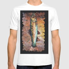 Red Trout Fresco Mens Fitted Tee MEDIUM White